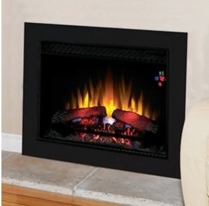 "The ClassicFlame 26"" SpectraFire can be installed almost anywhere and comes with a multi-function remote control with on-screen digital temperature control."