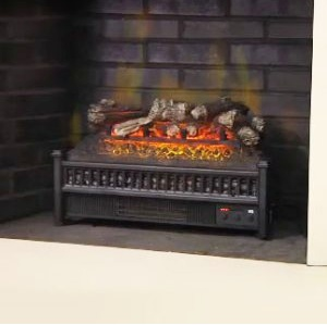An electric fireplace insert that
