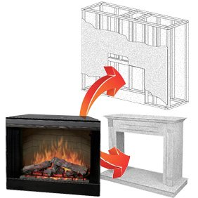 electric fireplace inserts built in type