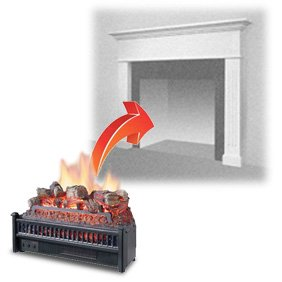 Electric Fireplace Inserts Log Type