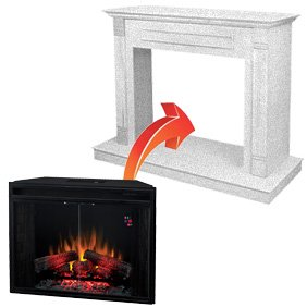 electric fireplace inserts plugin type
