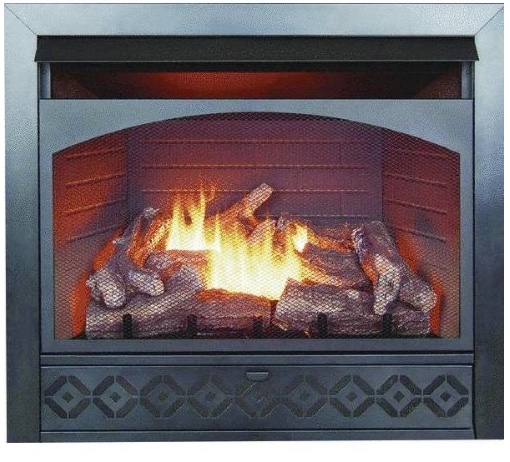 32 Inch Dual-Fuel Gas Firebox Log Combo FBD3211R