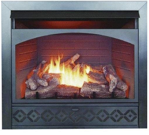 32 Inch Dual-Fuel Gas Firebox Log Combo FBD3211R