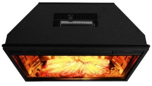 AKDY 28 inch Black Electric Firebox Fireplace Heater Insert W:Remote Azfl-EF05-28r Top View