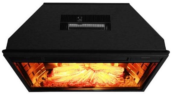 Akdy 28 Inch Black Electric Firebox Fireplace Heater
