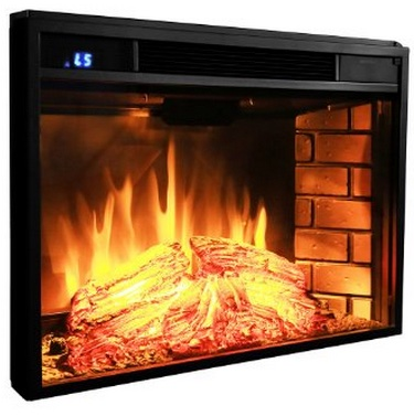 AKDY 28 inch Black Electric Firebox Fireplace Heater Insert W:Remote Azfl-EF05-28r