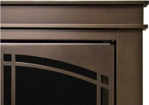 Pleasant Hearth FN-5700 Fenwick Fireplace Glass Door, Oil Rubbed Bronze Finish Closeup