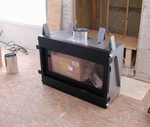 builders box fireplace insert