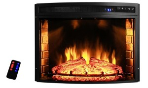 AKDY 28″ Black Electric Firebox Fireplace