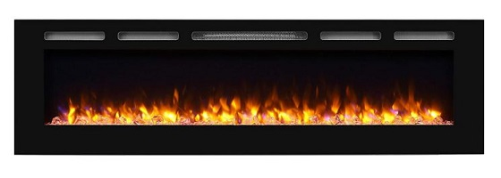 PuraFlame Alice Recessed Electric Fireplace