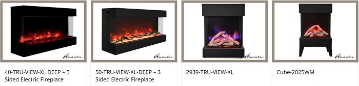 Amantii Tru-View outdoor fireplaces