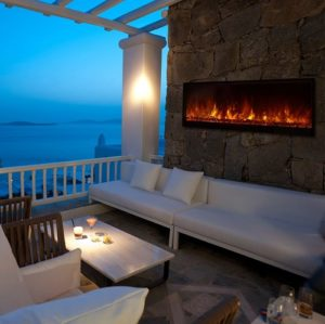 Can You Use an Electric Fireplace Outside?