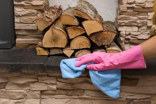 Fireplace safety gloves