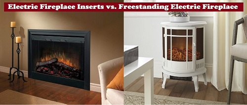 Electric Fireplace Inserts vs. Freestanding Electric Fireplaces